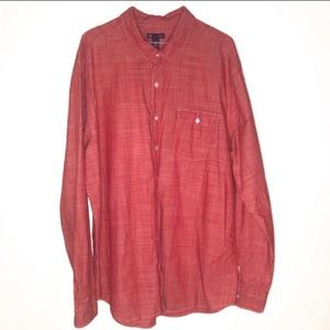 Gap slim fit solid red long sleeve button down XXL